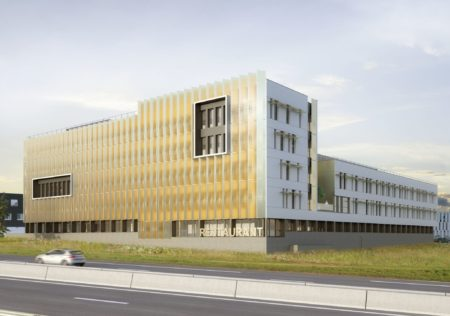SUNSET - Rocade de Rennes - vente de bureaux - vue cour intérieure